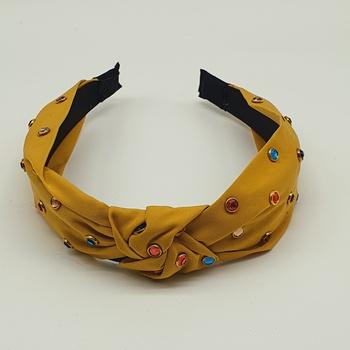 Tiara Pontos De Luz Colorido Amarelo