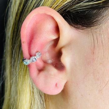 Piercing Fake Zircônia Prata Colorido