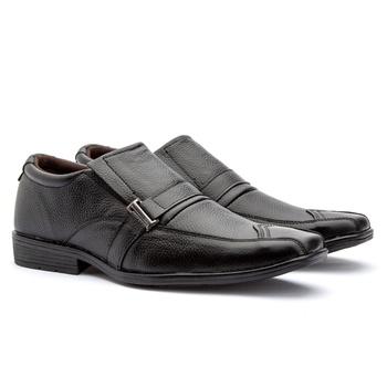 Sapato Social bico quadrado preto - Fratelli Outlet | Especialista em Sapatos Sociais de couro