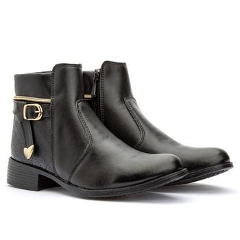 Coturno Feminino Preto 207 - Fratelli Outlet | Especialista em Sapatos Sociais de couro