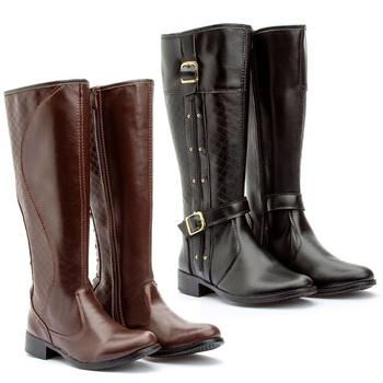 Kit 2 pares Montaria(231cap/229pto) - Fratelli Outlet   Especialista em Sapatos Sociais de couro