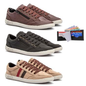 Kit 3 pares Sapatênis Detroit - Fratelli Outlet | Especialista em Sapatos Sociais de couro
