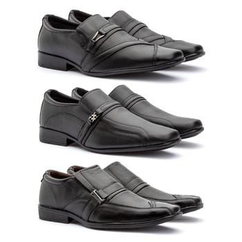 KIT 3 PARES EM COURO 26FC/05FP/B.Q - Fratelli Outlet | Especialista em Sapatos Sociais de couro