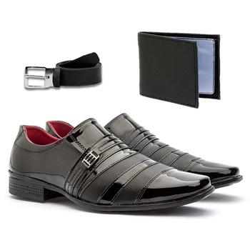 Sapato Social 813VP+CARTEIRA+CINTO - Fratelli Outlet | Especialista em Sapatos Sociais de couro
