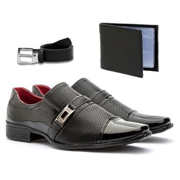 Sapato Social 814VP+CARTEIRA+CINTO - Fratelli Outlet | Especialista em Sapatos Sociais de couro