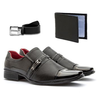 Sapato Social 815VP+CARTEIRA+CINTO - Fratelli Outlet | Especialista em Sapatos Sociais de couro