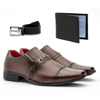 Sapato Social 815CAP+CARTEIRA+CINTO - Fratelli Outlet | Especialista em Sapatos Sociais de couro