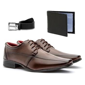 Sapato Social 804CAP+CARTEIRA+CINTO - Fratelli Outlet | Especialista em Sapatos Sociais de couro