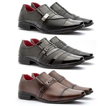 Kit 3 Pares 816VP/813VP/815CAP - Fratelli Outlet | Especialista em Sapatos Sociais de couro
