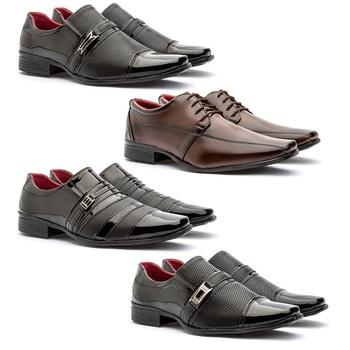 Kit Com 4 Pares-815VP/815CAP/813VP/814VP - Fratelli Outlet   Especialista em Sapatos Sociais de couro