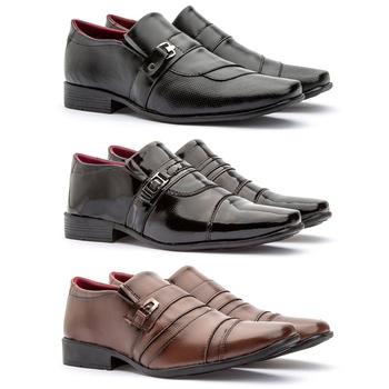 Kit 3 Pares 839VP/837FP/803FC - Fratelli Outlet | Especialista em Sapatos Sociais de couro