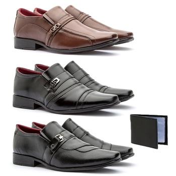 Kit 3 Pares - 805FC/837FP/803FP+CARTEIRA - Fratelli Outlet | Especialista em Sapatos Sociais de couro