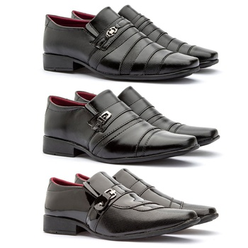 Kit 3 Pares 826FP/837FP/803FP - Fratelli Outlet | Especialista em Sapatos Sociais de couro