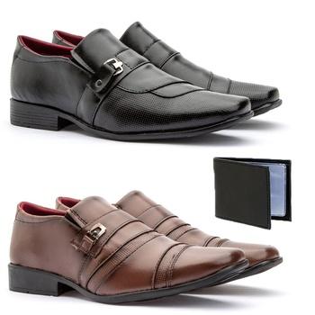 Kit 2 Pares 837FP/803FC + CARTEIRA - Fratelli Outlet | Especialista em Sapatos Sociais de couro