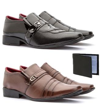 Kit 2 Pares - 837VP/833FC + carteira - Fratelli Outlet | Especialista em Sapatos Sociais de couro