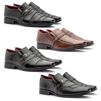 Kit Com 4 Pares -826FP/805FC/803FP/837FP - Fratelli Outlet | Especialista em Sapatos Sociais de couro