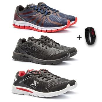 KIT 3 PARES RUNNING MASCULINO+RELÓGIO LED - Fratelli Outlet | Especialista em Sapatos Sociais de couro