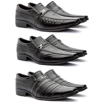 Kit 3 pares em couro legitimo: 777/778/779 - Fratelli Outlet | Especialista em Sapatos Sociais de couro