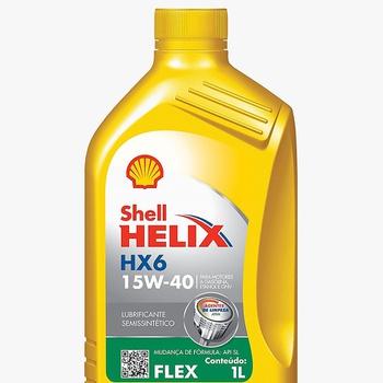 Óleo de motor 15W40 SHELL HELIX semi sintetico HX6