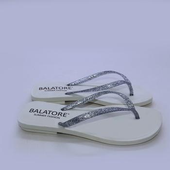 Chinelo Branco /Prata - EN008/003 - Balatore Shoes
