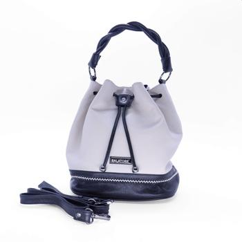 Bolsa Média Off-White e Preta - 5242/001 - Balatore Shoes