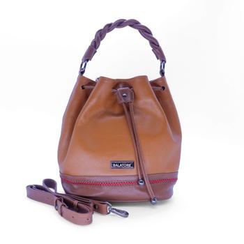 Bolsa Média Caramelo e Conhaque - 5242/002 - Balatore Shoes