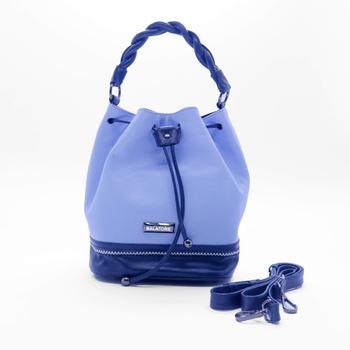 Bolsa Média em Couro Legítimo Azul - 5242/004 - Balatore Shoes