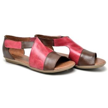 Flat Rasteira Búzios Tabaco e Pink - BZ029/054 - Balatore Shoes
