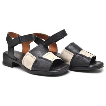 Sandália Florença Off White e Preto - FL006/020 - Balatore Shoes