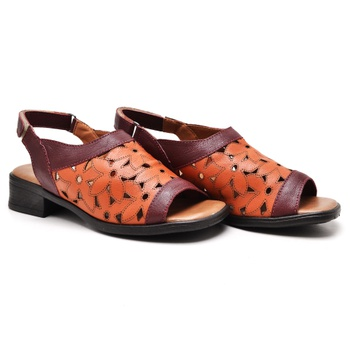 Sandália Florença Vermelho e Laranja - FL015/012 - Balatore Shoes