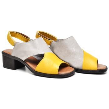 Sandália Ibiza Amarelo e Grafite - IB094/053 - Balatore Shoes