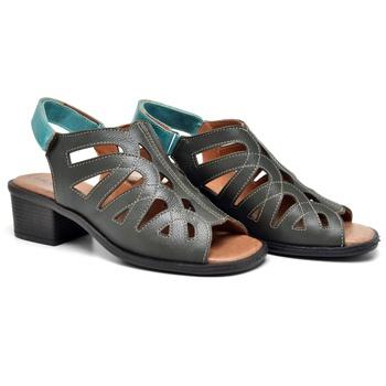 Sandália Ibiza Oliva e Turquesa - IB119/012 - Balatore Shoes