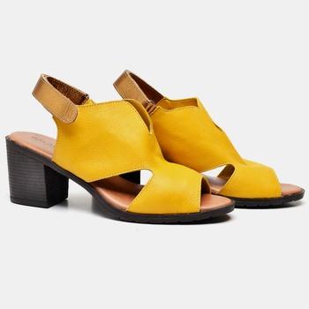 Sandália London Amarela e Bronze - LD090/003 - Balatore Shoes