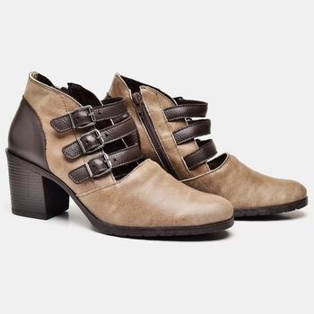 Bota Madri Areia e Café - MD017/004 - Balatore Shoes