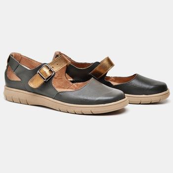 Sapatilha Nômade Verde Militar e Bronze - NO005/00... - Balatore Shoes