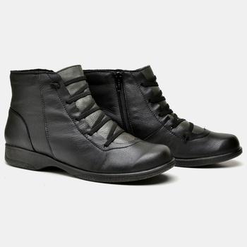 Bota Savana Preta e Verde Militar - SA008/010 - Balatore Shoes