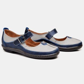 Sapatilha Soft Plus Azul Marinho e Cinza - SP001/0... - Balatore Shoes