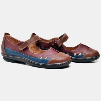 Sapatilha Soft Plus Whisky/Vermelho/Azul - SP003/0... - Balatore Shoes