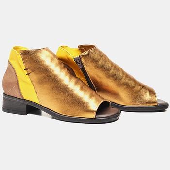 Ankle Boot Florença Bronze e Amarela - FL005/015 - Balatore Shoes