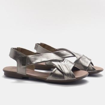 Flat Rasteira Maresias Prata Velho - MA89/003 - Balatore Shoes