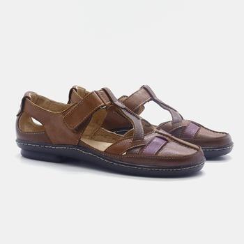 Sapatilha Soft Plus Whisky/Tabaco/Vermelho - SP010... - Balatore Shoes
