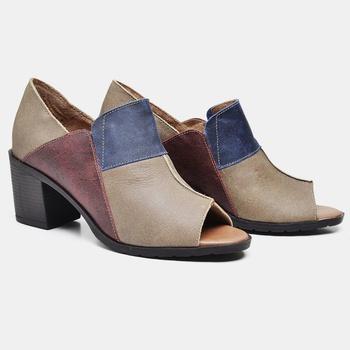 Sandália London Azul/Areia/Vermelha - LD077/007 - Balatore Shoes