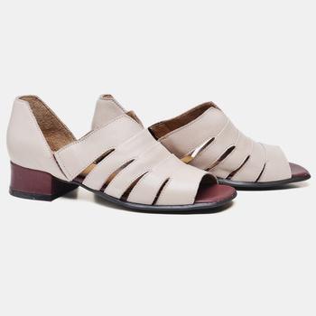 Sandália Mônaco Nude e Vermelha - MN006/002 - Balatore Shoes