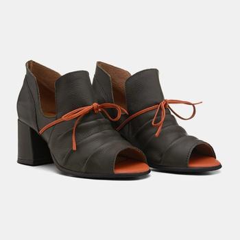 Sandália Paris Verde Militar e Laranja - PR002/050 - Balatore Shoes