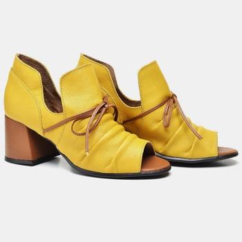 Sandália Paris Amarela e Whisky - PR002/013 - Balatore Shoes