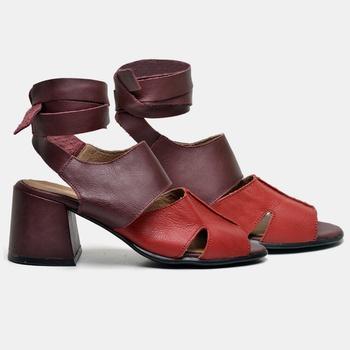 Sandália Paris Vermelha e Carmim - PR034/002 - Balatore Shoes