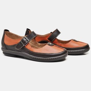 Sapatilha Soft Plus Café e Laranja - SP001/004 - Balatore Shoes