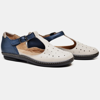 Sapatilha Soft Plus Azul Marinho e Off White - SP0... - Balatore Shoes