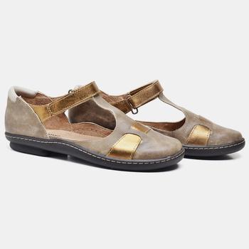 Sapatilha Soft Plus Areia e Bronze - SP007/004 - Balatore Shoes