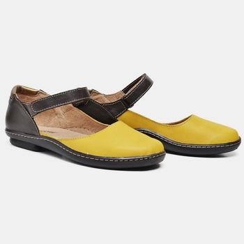 Sapatilha Soft Plus Amarela e Café - SP008/003 - Balatore Shoes